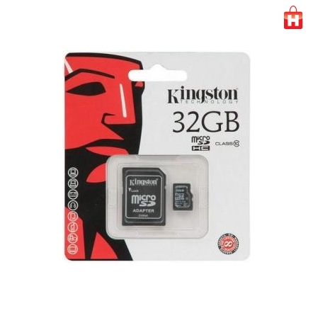 Карта памяти Kingston MicroSDHC 32Gb (Class 10) + SD-адаптер