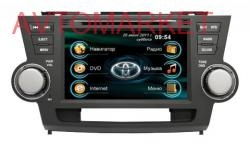 Автомагнитола штатная RoadRover Toyota Highlander 2008+ (Android)+ПОДАРОК КАМЕРА
