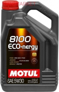 Моторное масло Motul 8100 Eco-nergy 5W-30 812306 5л